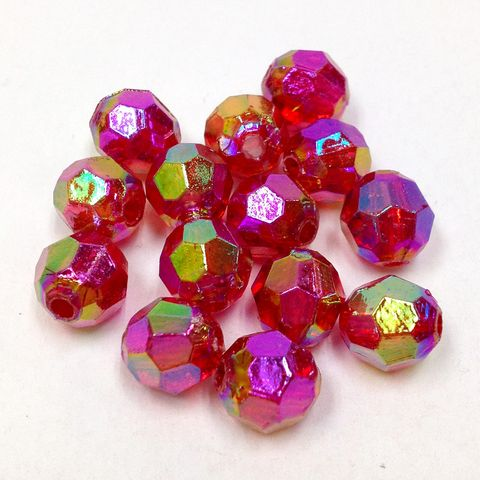 Faceted Beads 6mm Red 250g