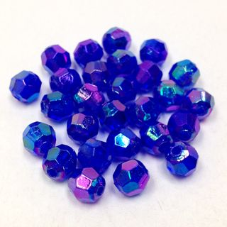 Faceted Bds 6mm Royal Blue AB 25g