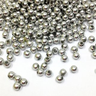 Pearl Beads 2mm Silver 25g