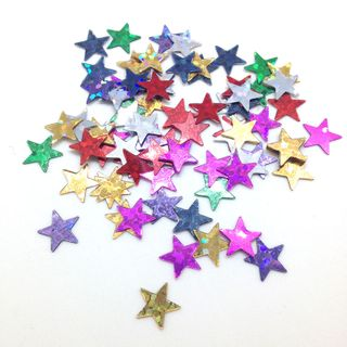 Scatters 17mm Stars Laser Assorted 500g