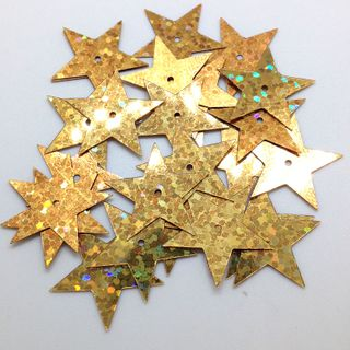 Scatters 17mm Stars w/Hole Las Gold 500g