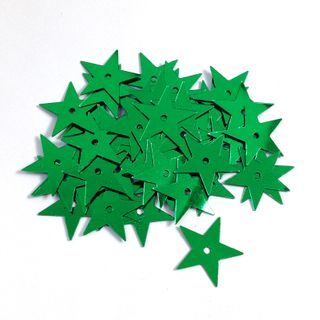 Scatters 17mm Stars w/Hole Green 500g