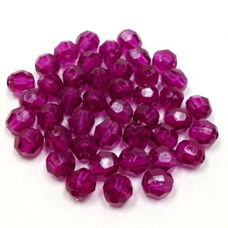 Faceted Beads 6mm Amethyst 25g