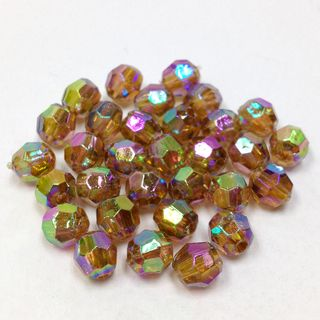 Faceted Bds 6mm Brown AB 250g