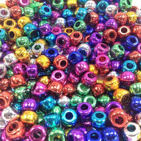 Pony Beads 9mm Assorted Metallics 250g