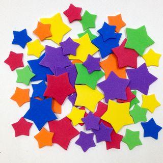 Craft Foam Cut-Outs Stars Pkt 60