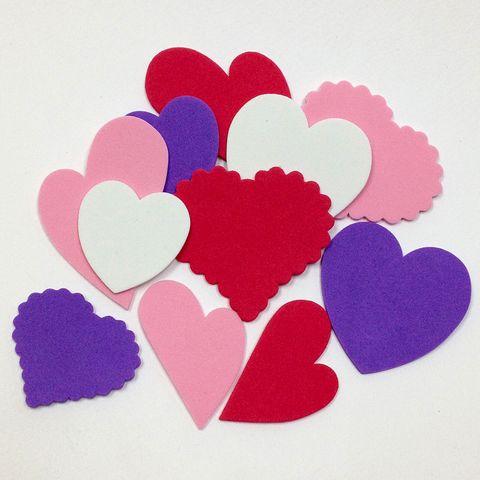 Craft Foam Cut-Outs Hearts pk 12