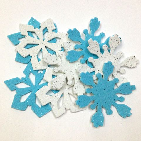 Craft Foam Shapes Snowflakes Pkt 8