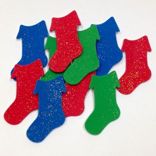 Craft Foam Cut-Outs Xmas Stocking pkt10