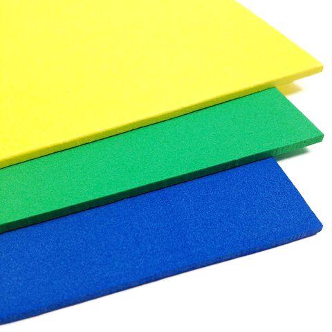 Craft Foam Sheet R.Blue/Green/Yell Pkt 3