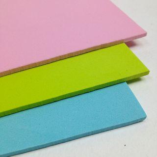 Craft Foam Sheet Lime/Aqua/Pink Pkt 3