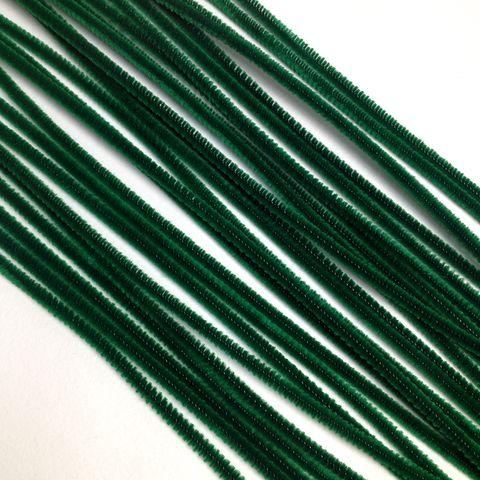 Chenille Sticks 3mm Green Pkt 100