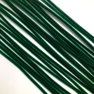 Chenille Sticks 3mm Green Pkt 100