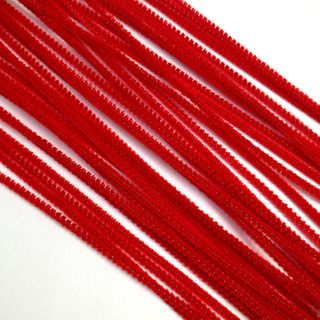 Chenille Sticks 3mm Red Pkt 100