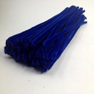 Chenille Sticks 6mm Royal BluePkt 100