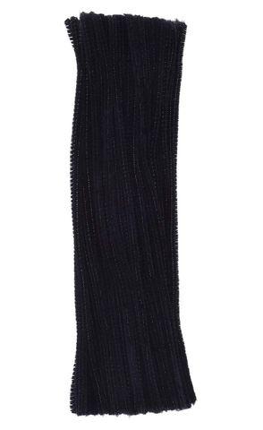 Chenille Sticks 12mm Black Pkt 100