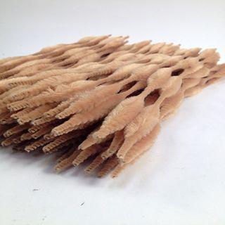 Chenille Sticks 4mm Bump Beige Pkt 100