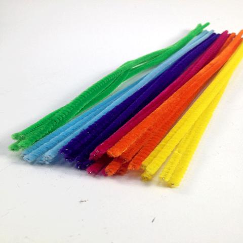 Chenille Sticks 3mm Assorted Pkt 30