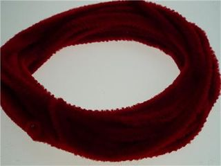 Chenille Stick Continuous 6mm Red 5m