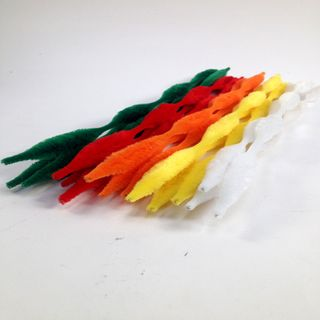 Chenille Sticks 4 Bump Assorted Pkt 15