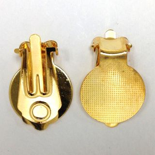 Clip-On Earring 13mm Gold Pkt 6