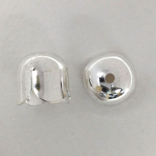 Bell Caps 12mm Silver Pkt 4