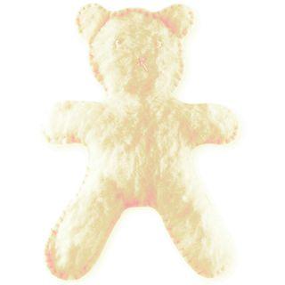 Flat Bear Plush Antique White Kit