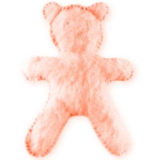 Flat Bear Plush Blush Pink Kit