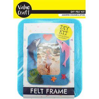 Craft Felt Frame Kit Blue Dolphin