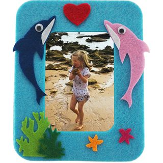 Craft Felt Frame Kit Blue-Dolphin 1Pk