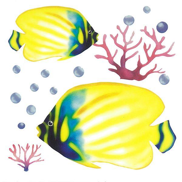 Dec/Transfers Blue/Yellow Fish