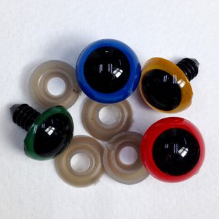 Eyes Crystal 12mm Assorted Pkt 12