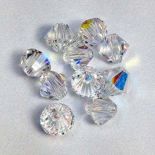 Swarovski Crystals 4mm Crystal AB 30 Pcs