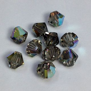 Swarovski Crystals 4mm Black AB 30 Pcs