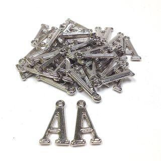 Alphabet Bds A Silver Pendant Pkt 144