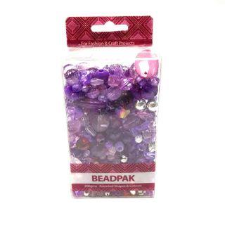 Beadpak Box Aqua/Crystal/Silver 200g
