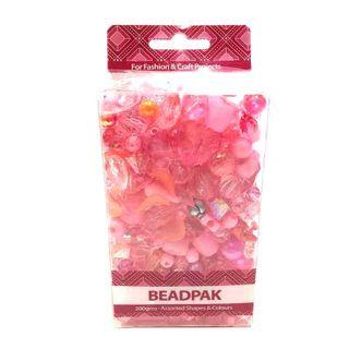 Beadpak Box Pink/Crystal/Silver 200g