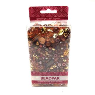 Beadpak Box Brown/Crystal/Gold 200g