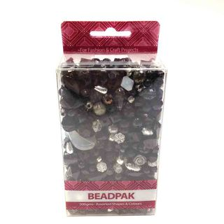 Beadpak Box Black/Crystal/Silver 200g