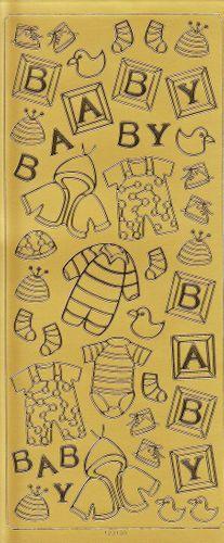 Sticker Baby Accessories Gold