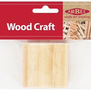Wood Cubes 50mm Natural Pkt 1