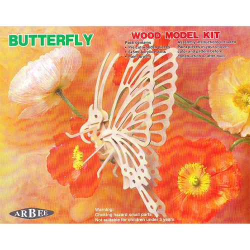 Wooden 3D Puzzle Kit Butterfly