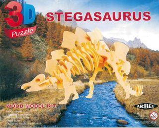 Wood 3D Puzzle Stegasaurus