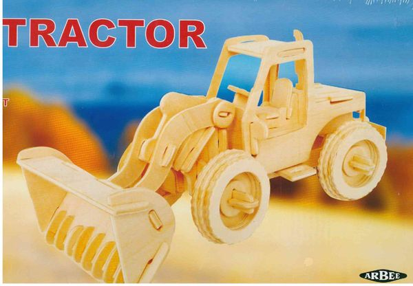 Wood 3D Puzzle Tractor