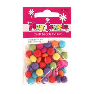 Bead 10Mm Bright Round Flat Asst 20G