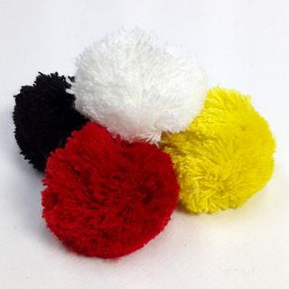 Fibre Pom Poms 50mm Assorted Pkt 4