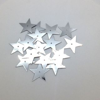 Scatters 17mm Stars With Hole Silver