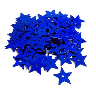 Scatters 17mm Stars With Hole Royal Blue