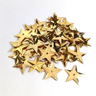 Scatters 14mm Stars Gold 500g