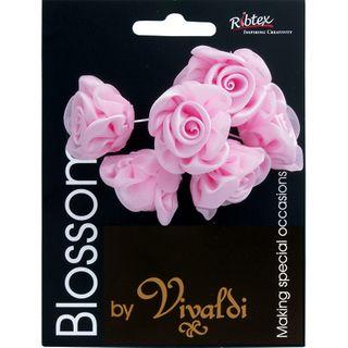 Rose Bud 6 Head Baby Pink